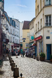 Street of Montmartre in Paris Royalty Free Stock Photo