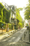 A street in Montmartre of Paris Stock Images