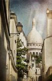 A street in Montmartre Royalty Free Stock Photo