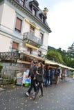 Street in Montreux, Switzerland Stock Photo