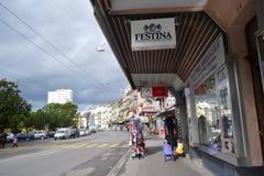 Street in Montreux, Switzerland Stock Image