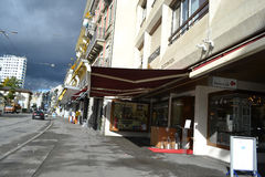 Street in Montreux, Switzerland Royalty Free Stock Image