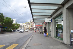 Street in Montreux, Switzerland Royalty Free Stock Photography