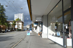 Street in Montreux, Switzerland Stock Photography