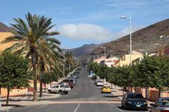 Street in Morro Jable, Fuerteventura Stock Images