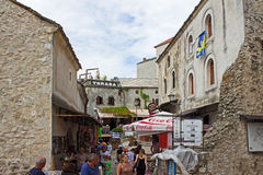 Street in Mostar Royalty Free Stock Photography