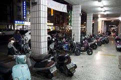 Street of motor bikes Stock Images