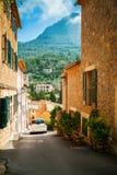 Street in the mountain village Deia Royalty Free Stock Photos