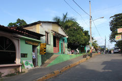 Street in Moyogalpa, Nicaragua royalty free stock images