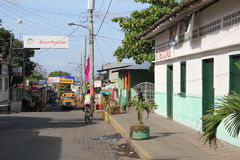 Street in Moyogalpa, Nicaragua royalty free stock photo