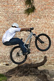Street MTB / BMX bike trick Stock Photos