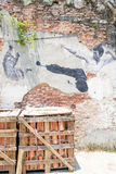 Street Mural tittle painted by Ernest Zacharevic in Penang. PENANG, MALAYSIA-Sep 6 : Street Mural tittle painted by Ernest Zacharevic in Penang on Sep 6, 2015 Stock Photography