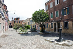 Street in Murano Island Royalty Free Stock Images