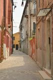 Street in Murano. Narrow street in Murano, in the Venetian Lagoon, northern Italy Royalty Free Stock Photos