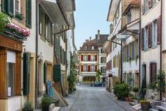 Street in Murten,,Switzerland Stock Images
