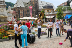 Street music band royalty free stock photography