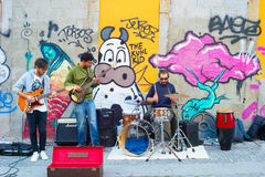 Street music band Royalty Free Stock Photos