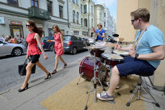 Free Street Music Day, Vilnius Stock Photos - 34360463