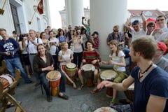 Street music day, Vilnius Stock Image
