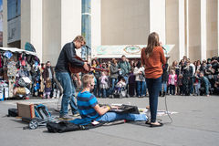 Street music in Paris Stock Images