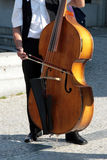 Street musician. In Praha, Czech Royalty Free Stock Images