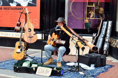 Street musician Stock Images