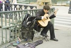 The street musician Stock Photo