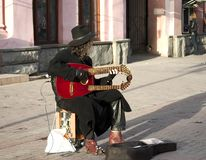 Street musician. (old Arbat , Moscow Royalty Free Stock Image
