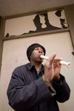 Street Musician. Black Minneapolis street musician Stock Image