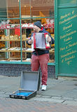 Street musician with accordian Royalty Free Stock Photography