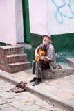 Street musician in Bogota Stock Image