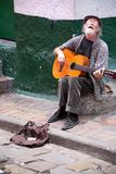 Street musician in Bogota Royalty Free Stock Images