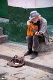 Street musician in Bogota Royalty Free Stock Photography