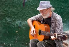 Street musician in Bogota Stock Photography