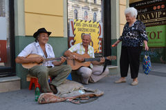 The street musician Stock Images