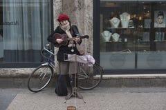 Street musician Royalty Free Stock Image