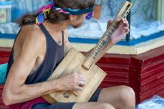 A street musician at Hawthorn Street Fair, Portland, Oregon Stock Photos