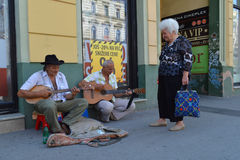 The street musician Royalty Free Stock Image