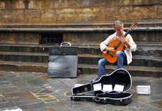 Street Musician In Italy Royalty Free Stock Images