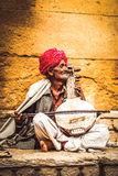 Street Musician. A Street Musician From Jaisalmer India Royalty Free Stock Photo