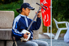 Street Musician in Osaka Royalty Free Stock Image