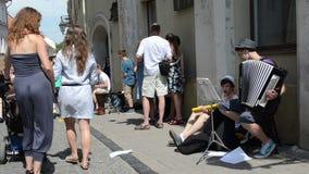 Street musician people Stock Photos