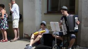 Street musician people Stock Image