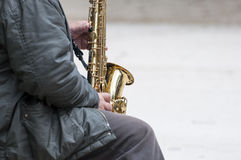 Street musician Stock Photo