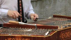 Street musician stock video footage