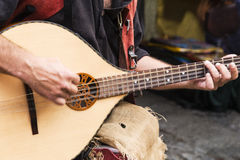 Street musician playing Royalty Free Stock Image