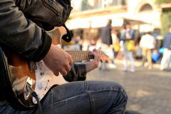 A street musician Royalty Free Stock Photography