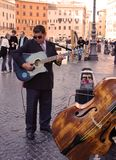Street musician in Rome Royalty Free Stock Photography