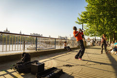 Street musician singer Stock Photos