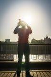 Street musician singer Stock Images
